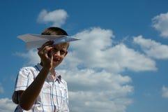 бумага самолета Стоковое фото RF
