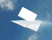 бумага самолета Стоковые Изображения
