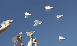 бумага самолетов Стоковая Фотография