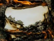Бумага сбора винограда горящая Стоковая Фотография