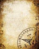 Бумага сбора винограда с компасом Стоковое Изображение RF