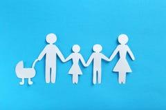 бумага семьи счастливая Стоковые Изображения