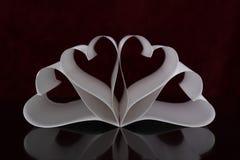 бумага сердец Стоковая Фотография RF