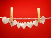 бумага сердец Стоковое Изображение