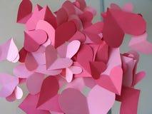 бумага сердец Стоковая Фотография