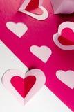 бумага сердец стоковое фото