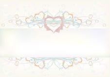 бумага сердца знамени Стоковое Изображение RF