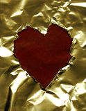 бумага сердца рамки Стоковое Фото
