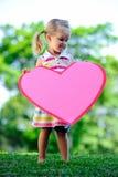 бумага сердца ребенка Стоковые Изображения
