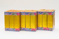 Бумага серебра и золота на белизне Стоковая Фотография RF