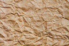 бумага скомканная коричневым цветом Стоковая Фотография
