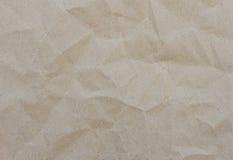 бумага скомканная коричневым цветом Стоковое фото RF