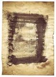 Бумага старого стиля античная на белой предпосылке Стоковое Изображение