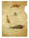 Бумага старого стиля античная на белой предпосылке Стоковые Фотографии RF
