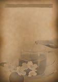 Бумага старой предпосылки меню чая винтажная для любого дизайна Стоковое Изображение RF