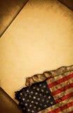 бумага США флага старая Стоковые Фотографии RF