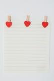 Бумага с в форме сердц штыри Стоковое Изображение