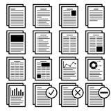 Бумага с значком текста с разнообразие планом также вектор иллюстрации притяжки corel Стоковая Фотография RF