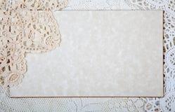 Бумага с кружевной Стоковое Изображение