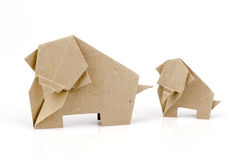 Бумага слона на белой предпосылке. Стоковые Изображения