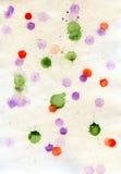 Бумага с покрашенными пятнами Стоковое фото RF