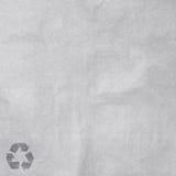 Бумага с рециркулирует знак стоковое фото