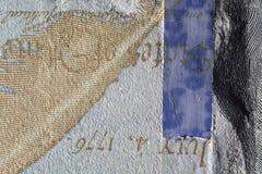 Бумага текстуры, часть бумажных денег Стоковые Изображения RF