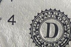 Бумага текстуры, часть бумажных денег Стоковое Изображение
