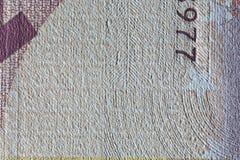Бумага текстуры, часть бумажных денег Стоковое фото RF