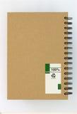 бумага тетради задней стороны обложки рециркулирует Стоковая Фотография RF