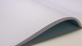 Бумага тетради математики Стоковое фото RF