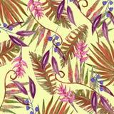 Бумага тропового цветка цифровая Стоковые Фотографии RF