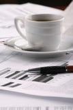 бумага утра кофейной чашки дела душистая Стоковая Фотография RF