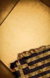 бумага флага греческая старая Стоковое Изображение RF