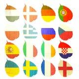 бумага футбола флага Стоковая Фотография