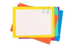бумага цвета зажима стоковые изображения