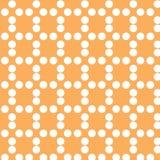 Бумага цвета и кругов цифров оранжевая Стоковое Изображение RF