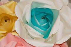 Бумага цветка абстрактной радуги красочная красивая розовая Стоковое Фото