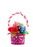 бумага цветков корзины handmade изолированная Стоковое фото RF