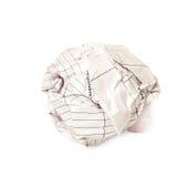бумага шарика близкая вверх Стоковые Фото
