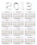 Бумага шелковицы текстуры 2013 календаров белая. Стоковая Фотография RF
