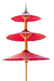 Бумага шелковицы традиционного красного зонтика бамбуковая от к северу от Таиланда Стоковые Изображения RF