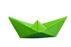 бумага шлюпки зеленая Стоковые Изображения RF