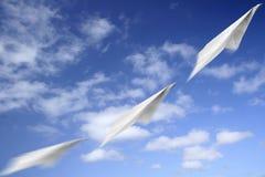 бумага движения аэроплана Стоковое Изображение RF