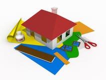 бумага 2 домов Стоковое Изображение RF