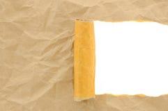 Бумага Brown скомкала сорвано с космосом экземпляра для текста стоковые изображения rf