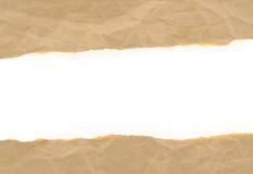 Бумага Brown скомкала сорвано с космосом экземпляра для текста стоковая фотография