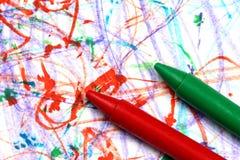 бумага crayons Стоковая Фотография RF
