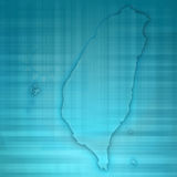 Бумага 3D карточки карты Тайваня естественная Стоковые Изображения RF