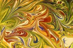 Бумага Ebru- мраморная Стоковые Фотографии RF